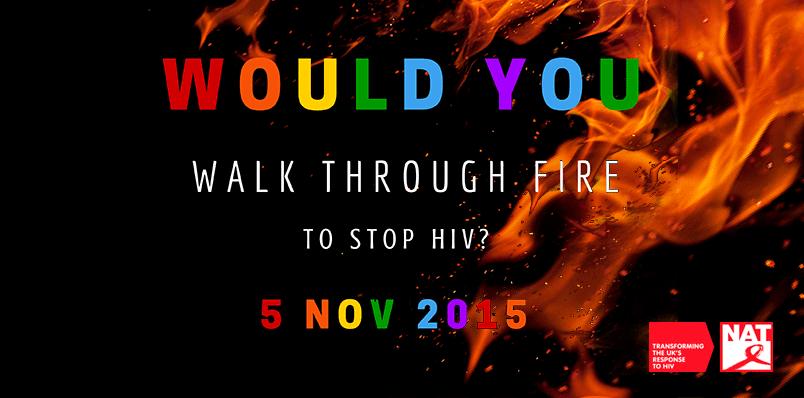 National AIDs Trust Fundraising Firewalk followed by Myra DuBois.