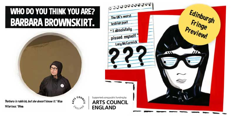 'WHO DO YOU THINK YOU ARE? Barbara Brownskirt.'