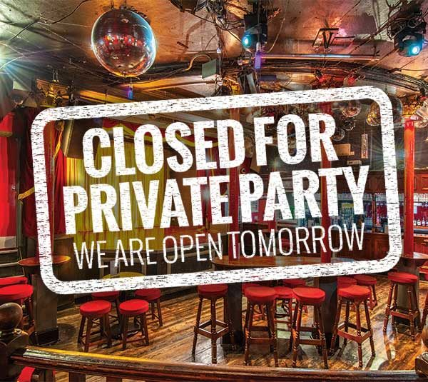 Closed for private party