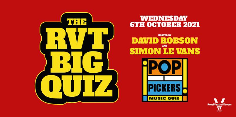 The RVT Big Quiz – Pop Pickers Edition