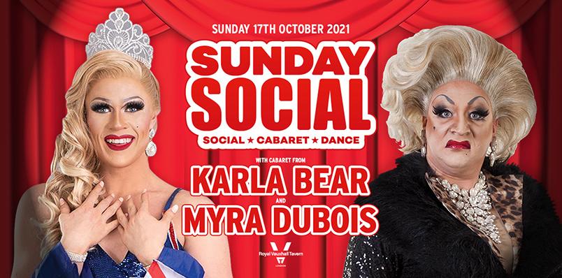 Sunday Social at the RVT with Karla Bear and Myra Dubois