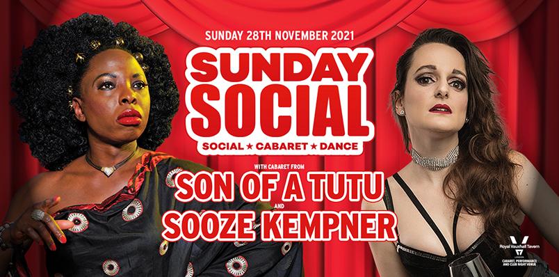 Sunday Social at the RVT with Son of a Tutu and Sooz Kempner